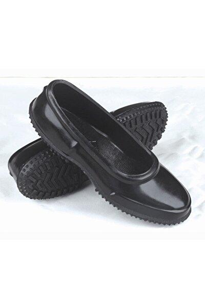 Kadın Siyah Astarız Mesh Lastik Ayakkabı