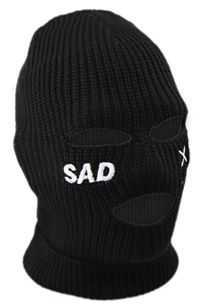Kışlık Unisex 3 Gözlü Kar Maskesi Siyah