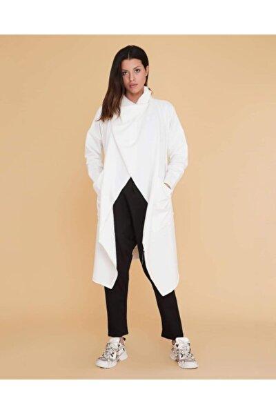 Şal Yaka Ikon Beyaz Tunik