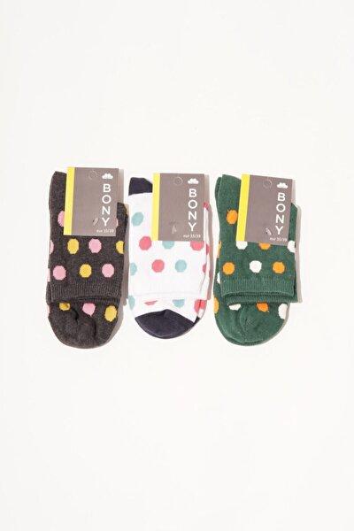3 Lü Paket Spots Kadın Soket Çorap- Mix
