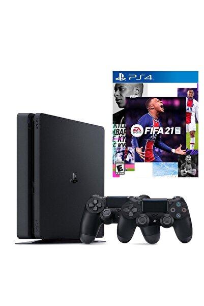 Playstation 4 Slim 1 Tb + 2. Ps4 Kol + Ps4 Fifa 2021
