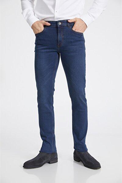 Erkek Lacivert Slim Fit Jean Pantolon A02y3529