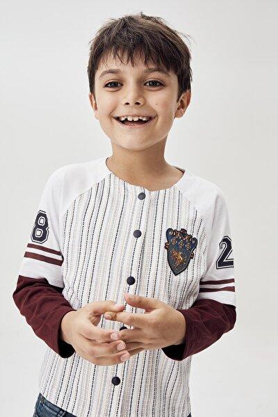Erkek Çocuk Beyaz T-shirt 20fw0nb3512