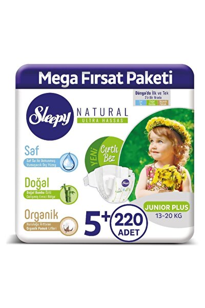 Natural Bebek Bezi 5+ Numara Junior Plus 220 Adet
