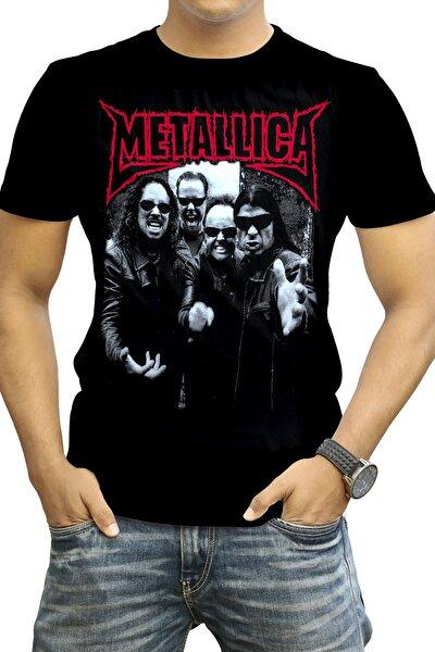 Metallica - Unisex Siyah Baskılı T-shirt