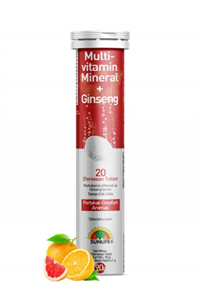 Multi-vitamin, Mineral + Ginseng 20 Eff Tablet