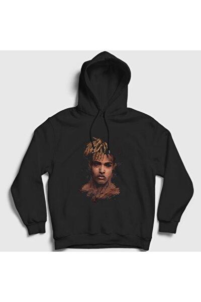 Unisex Siyah Face Xxxtentacion Kapşonlu Sweatshirt 47650tt
