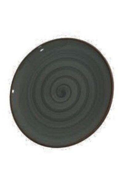 24cm Servis Tabağı Siyah Renk Desenli