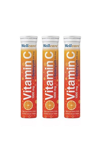 Vitamin C + Selenyum15 Efervesan Tablet - 3 Adet