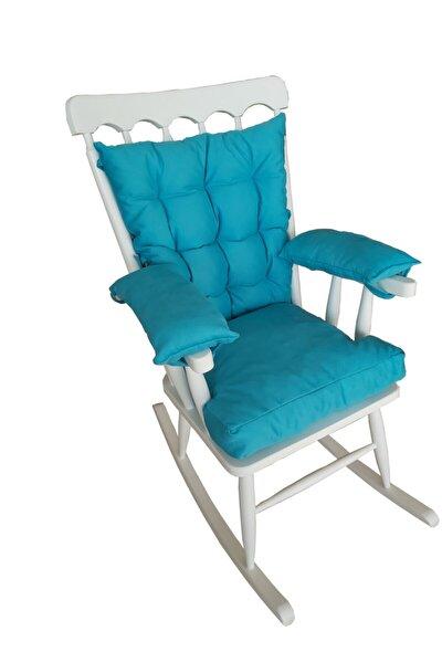 Beyaz Sallanan Sandalye Sallanır Koltuk Minderli
