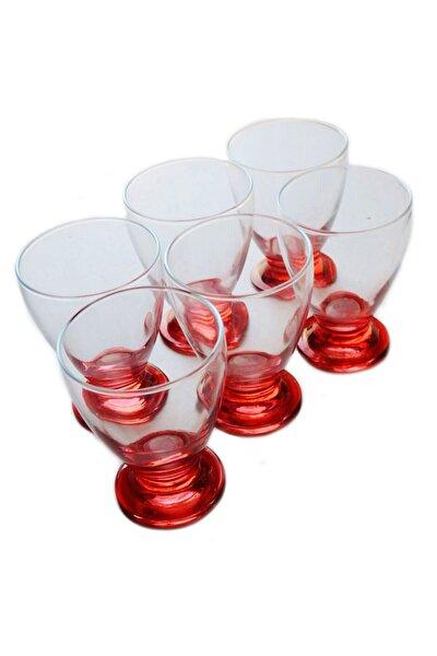 41011 Çın Çın 12 Adet Kırmızı Su-meşrubat Bardağı