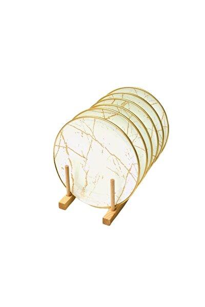 Mermer Beyaz Pasta Tabagı