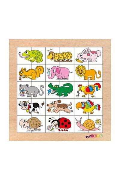 Eşleştir & Karıştır Hayvanlar Ahşap Puzzle
