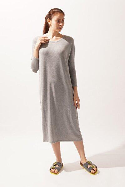 Silver Line Lovender Kadın Elbise - Gri