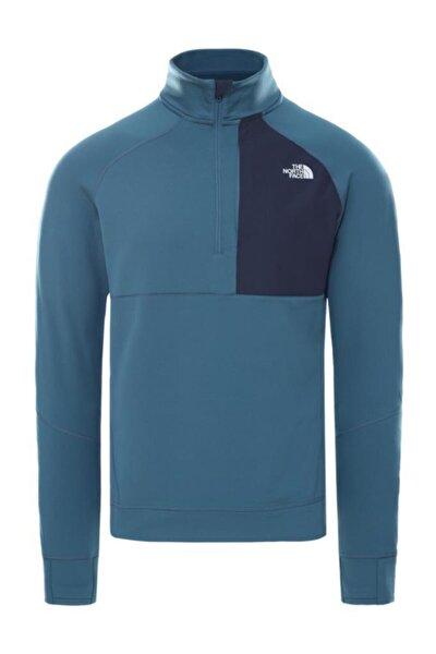 Ambition Yarım Fermuarlı Erkek Sweatshirt Mavi