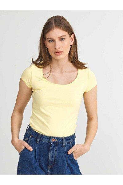 Xınt U Yaka Pamuklu Rahat Kesim Basic Tişört