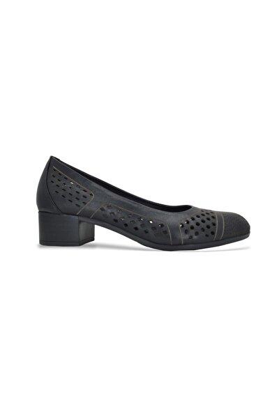 Kadın Ayakkabısı Siyah Deri - 1379