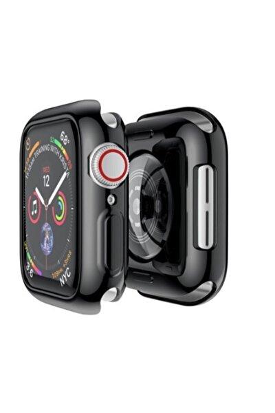 Apple Watch 1 2 3 38mm Silikon Siyah Renk Tam Koruyucu Kılıf Silikon 38mmsiyah