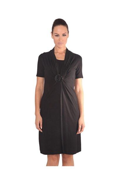 Kadın Siyah Tokalı Elbise - Bga116729