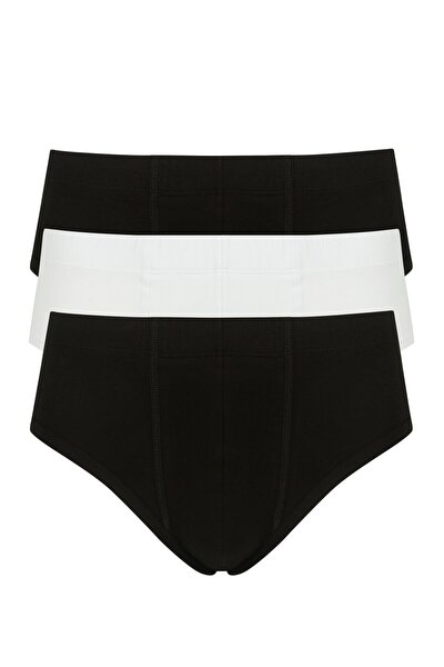 Siyah Beyaz Basic 3lü Slip Külot
