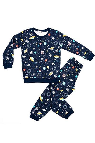 Gezegen Desenli Erkek Çocuk Pijaması