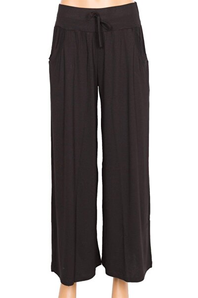 Penye Siyah Pantolon Etek