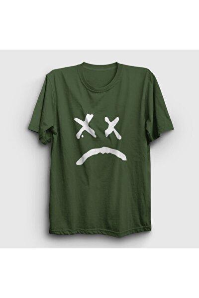 Unisex Haki Sad Face Lil Peep Tişört 37848tt