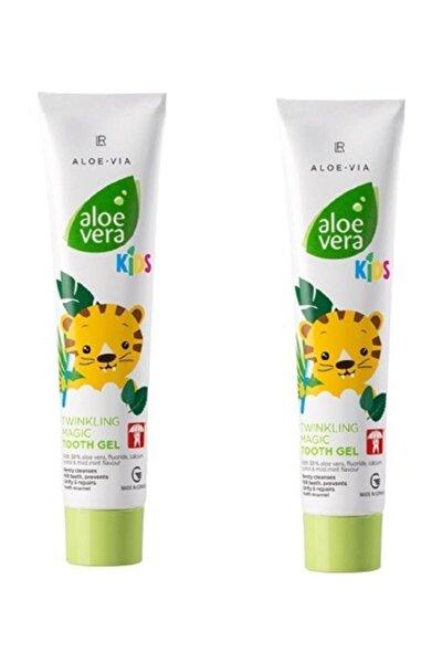 Aloe Vera Kids - Çocuklara Özel Twinkling Magic Diş Macunu - 50 ml 2 Li Set