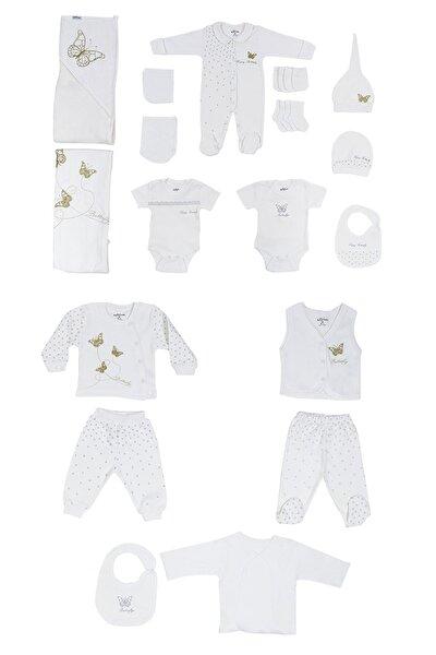 Kız Bebek Kelebek Figürlü Hastane Çıkışı 20li Takım 0-3 Ay Azz071027