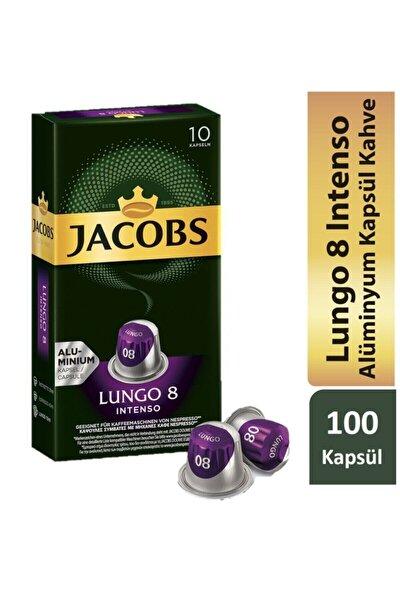 Lungo Intenso 8 Kapsül Kahve 10 X 10 Paket (100 Adet) Nespresso Uyumlu
