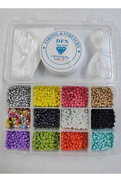 Takı Yapım Malzemesi Kum Boncuk Seti 12 Renk
