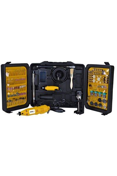 405 Parça Devir Ayarlı Gravür Oyma Makinesi Dremel Taşlama Zımpara Kesme Seti Sfc405a 450w