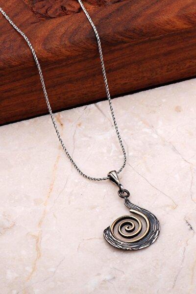 Sarma Elişi Gümüş Tasarım Kolye 7045