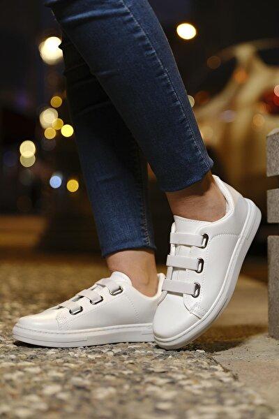 Zeina Lastik Bağcık Detaylı Kadın Sneaker