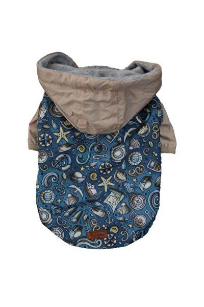 Ocean Raincoat Küçük Ve Orta Irklar Için Kapşonlu Mont Yağmurluk Köpek Kıyafeti
