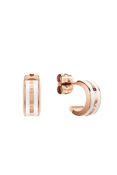 Emalie Earrings RG White Çelik Küpe
