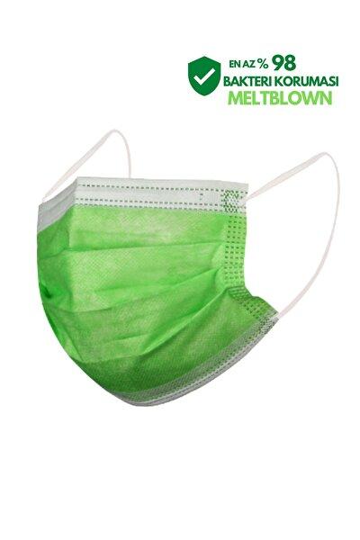 Meltblown Filtreli Full Ultrasonik 3 Katlı Meyve Yeşili Maske 500 Adet