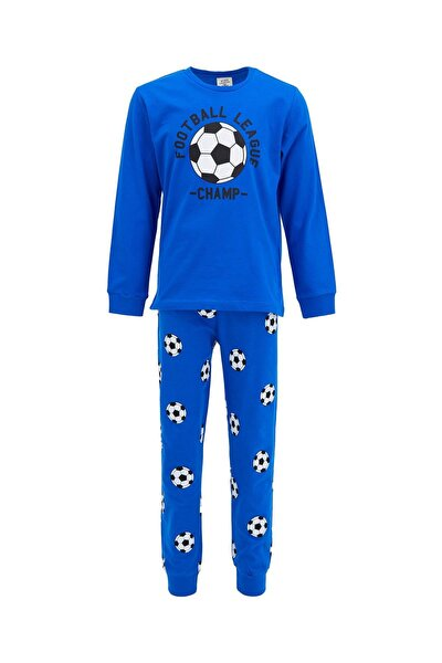 Erkek Çocuk Futbol Topu Baskılı Pijama Takımı