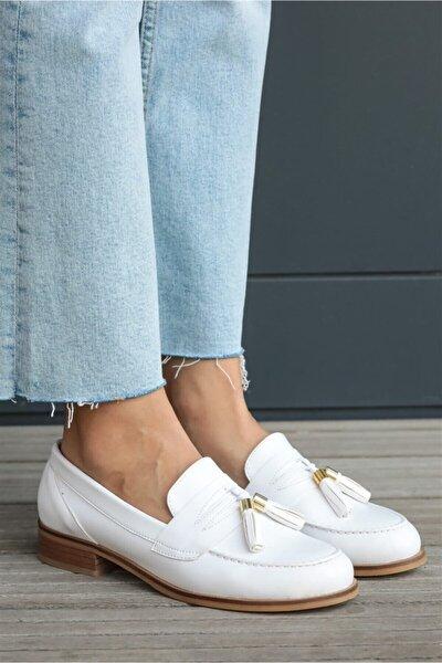 Dylan Beyaz Oxford Ayakkabı