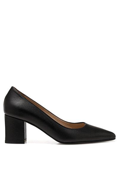 SIROK Siyah Kadın Hakiki Deri Topuklu Ayakkabı 101026015