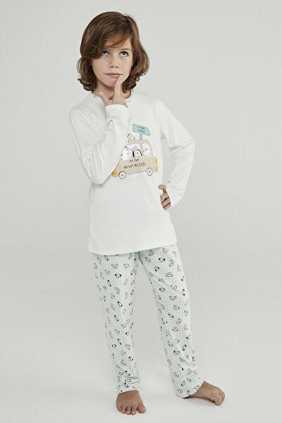 Çok Renkli Erkek Çocuk Adventure Termal 2li Pijama Takımı