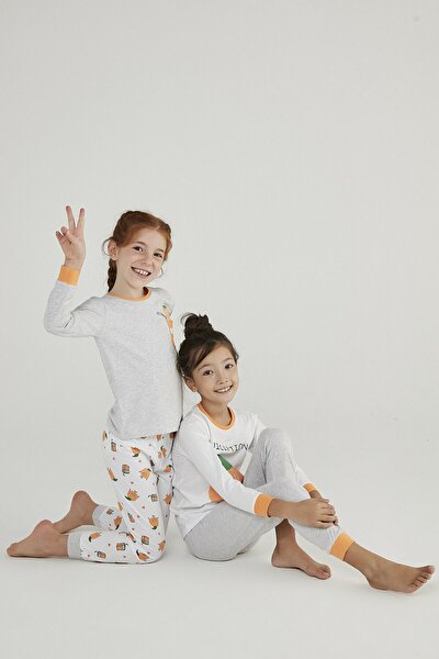 Çok Renkli Kız Çocuk Juice 4lü Pijama Takımı