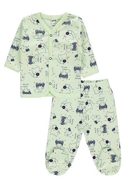 Kız Bebek Pijama Takımı 0-3 Ay Yeşil