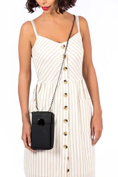 Kadın Siyah Zincir Askılı Mini Çanta 0449