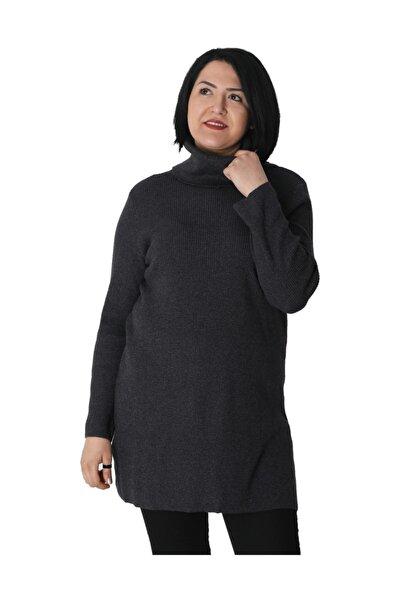 Kadın Tunik Md001 Sonbahar Kış Boğazlı Kazak Triko