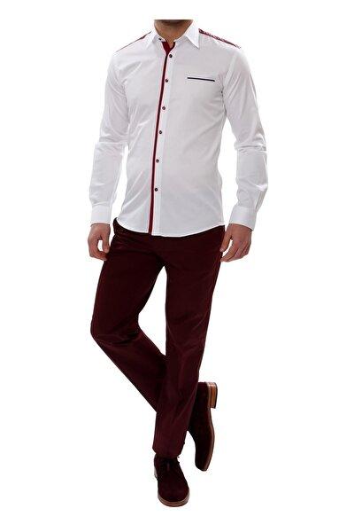 P 905 Slim Fit Bordo Spor Pantolon