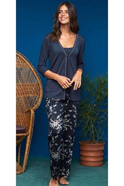 Penye Mood 8615 Kadın Pijama Takım 3 Parça Laciver