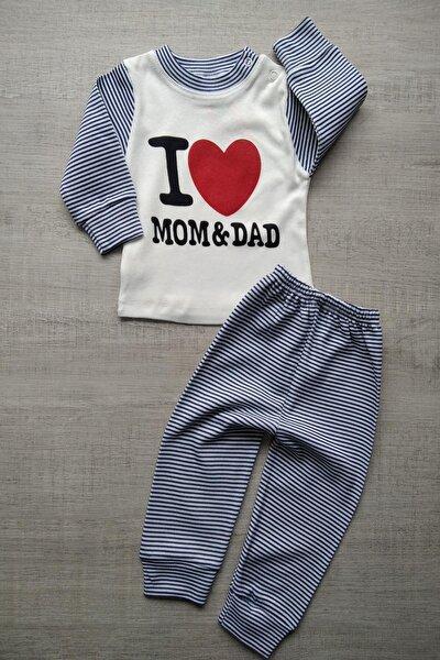 I Love Mom&dad Yazılı Erkek Bebek 2li Takım