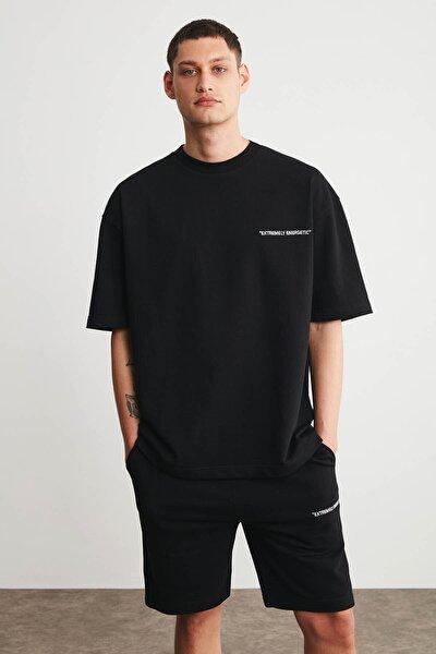 COLOMBIA Erkek Siyah Renk Şort T-shirt Eşofman Takımı