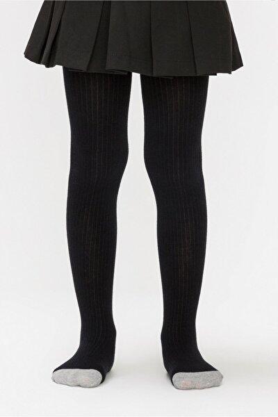 Siyah Renk Triko Külotlu Çorap